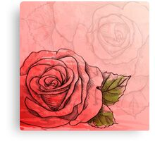 Sketch rose Canvas Print