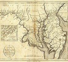 Vintage Map of Maryland (1796)  by BravuraMedia