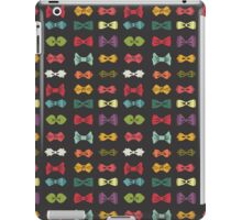 Bow tie pattern. Cartoon hipsters style iPad Case/Skin