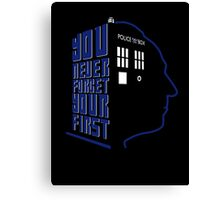 You Never Forget Your First - Doctor Who 1 William Hartnell Canvas Print