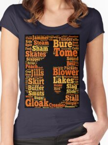 Tuam Slang Words (Daily) Women's Fitted Scoop T-Shirt