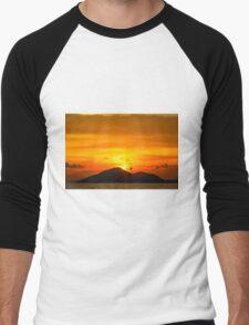 Sunset island Men's Baseball ¾ T-Shirt