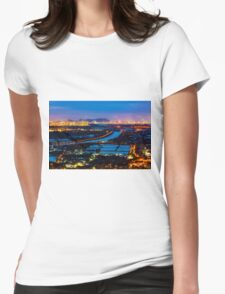 Sunset ponds Womens Fitted T-Shirt