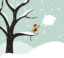 Christmas bird by Aleksander1