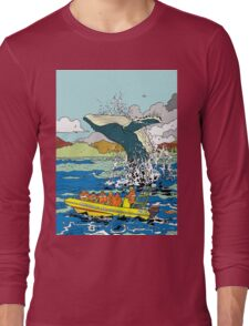 Jumping Whale Long Sleeve T-Shirt