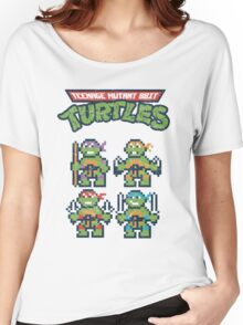 Teenage Mutant 8bit Turtles Women's Relaxed Fit T-Shirt