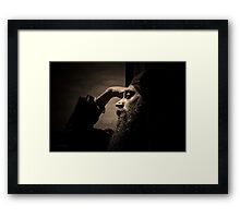 A Moment to Himself Framed Print