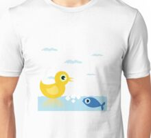 Duck and fish Unisex T-Shirt