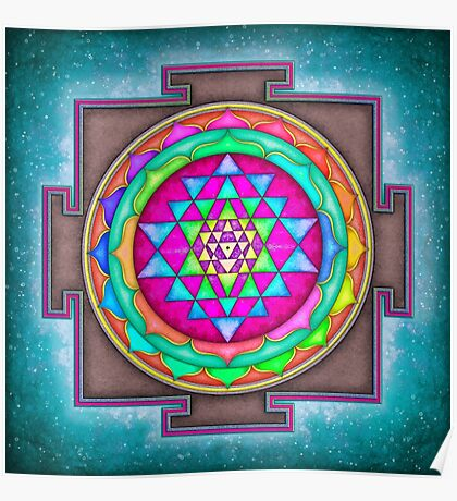 Sri Yantra 7 - Artwork 7 Poster