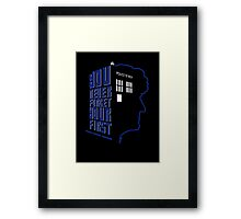 You Never Forget Your First - Doctor Who 3 Jon Pertwee Framed Print