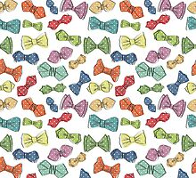 Fun dow tie pattern. Cartoon hipsters style by Tatiakost