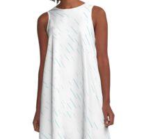 Blue Rain Pattern // Shirt // Dress // Poster A-Line Dress
