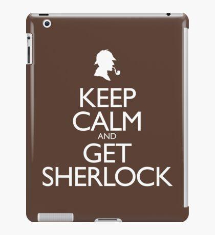 Keep Calm and Get Sherlock design iPad Case/Skin