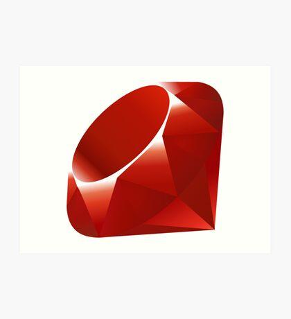 Ruby - Programming Language Logo Art Print