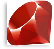 Ruby - Programming Language Logo Metal Print