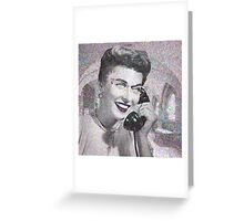 VINTAGE TELEPHONE LADY Greeting Card