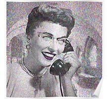VINTAGE TELEPHONE LADY Poster