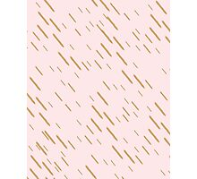 Simple French Pink + Gold Pattern // Shirt // Dress // Poster Photographic Print