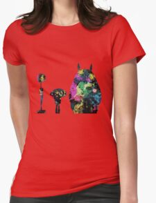 Totoro Bus Stop Colors Womens Fitted T-Shirt