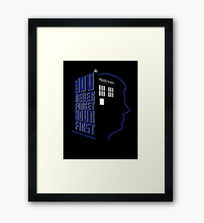 You Never Forget Your First - Doctor Who 5 Peter Davison Framed Print