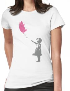 Pigballoon Womens Fitted T-Shirt