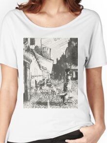 Café Terrace at Night Women's Relaxed Fit T-Shirt
