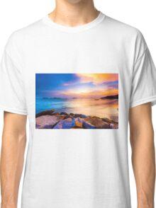 Sunset along the coast Classic T-Shirt