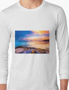 Sunset along the coast Long Sleeve T-Shirt