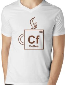 Coffee Element Mens V-Neck T-Shirt