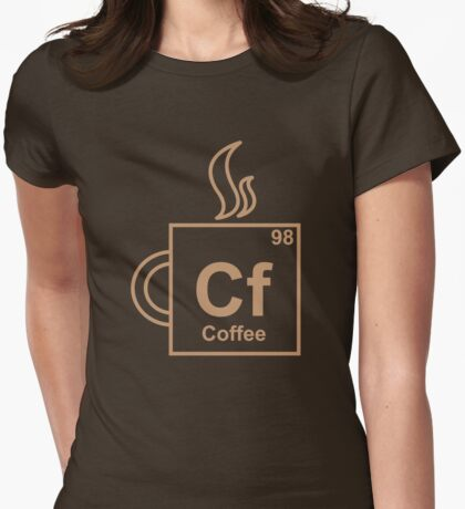 Coffee Element Womens Fitted T-Shirt
