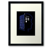 You Never Forget Your First - Doctor Who 6 Colin Baker Framed Print