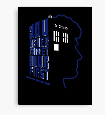You Never Forget Your First - Doctor Who 6 Colin Baker Canvas Print