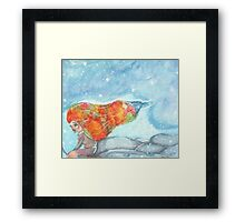 Winter Strikes Back - Watercolor Painting Framed Print