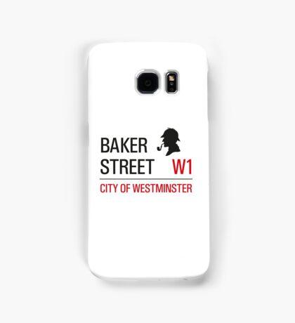 Sherlock Holmes Baker Street W1 sign Samsung Galaxy Case/Skin
