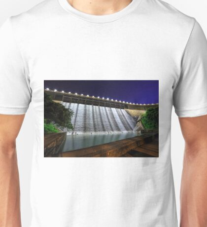 Dam at night Unisex T-Shirt
