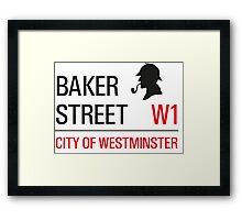 Sherlock Holmes Baker Street W1 sign Framed Print