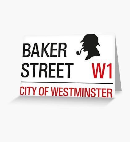 Sherlock Holmes Baker Street W1 sign Greeting Card
