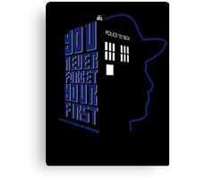 You Never Forget Your First - Doctor Who 7 Sylvester McCoy Canvas Print
