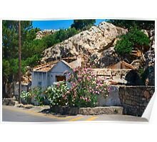 A beautiful dilapidated house in Rhodes, Greece Poster