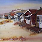 Beach Huts at Mudeford by FrancesArt