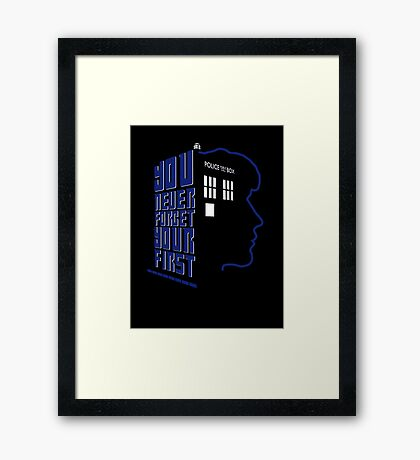 You Never Forget Your First - Doctor Who 8 Paul McGann Framed Print