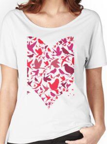 Heart a bird Women's Relaxed Fit T-Shirt