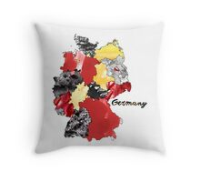 Watercolor Countries - Germany Throw Pillow