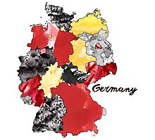 Watercolor Countries - Germany Photographic Print