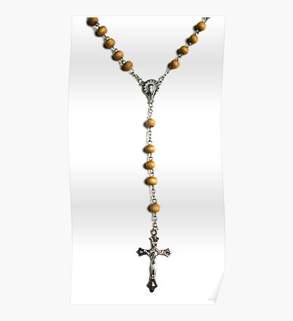 WOODEN ROSARY BEADS Poster
