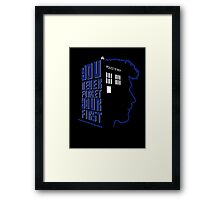 You Never Forget Your First - Doctor Who 8.5 John Hurt Framed Print