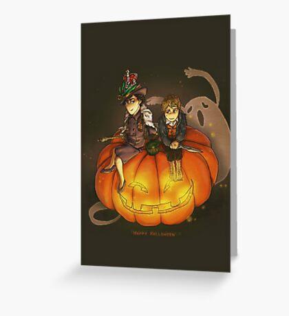 Sherlockian Hallowen Greeting Card