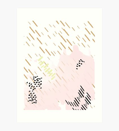 Golden Rain Pattern // Shirt // Dress // Poster Art Print