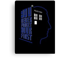 You Never Forget Your First - Doctor Who 9 Christopher Eccleston Canvas Print
