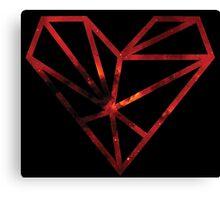 Red galaxy heart. Canvas Print